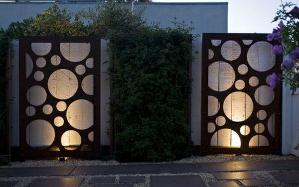 Zeitgenossische Zaun Gestaltungsideen Bepflanzt Beleuchtung Zaun Garten Zaun Gartenzaun