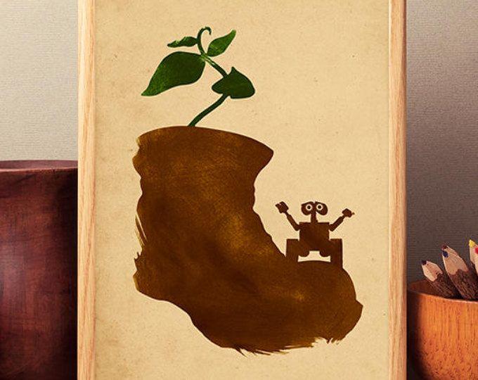 Walt Disney Pixar Wall-E Movie minimaliste affiche, oeuvre de Wall E ...