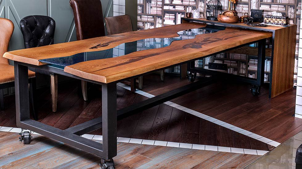 Wooden Dining Table On Wheels Large Wooden Dining Tables Wooden