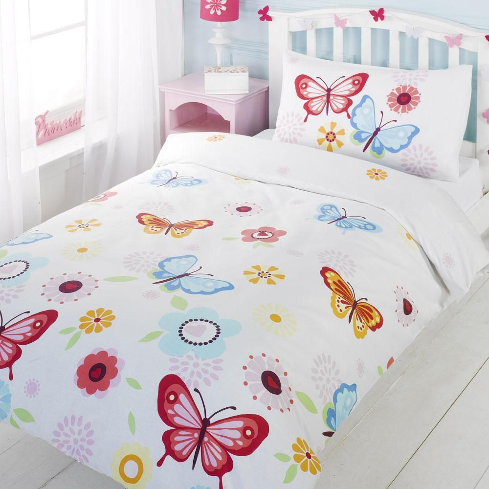 Details about Girls Toddler Single Double Bedding Duvet Curtains ...