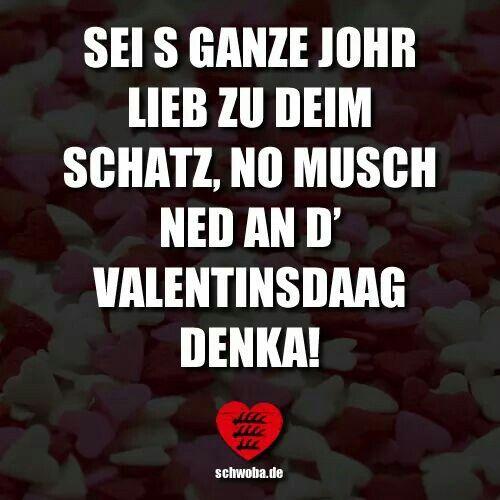 Valentinstag Liebe Mann Frau Drandenken Schwäbisch