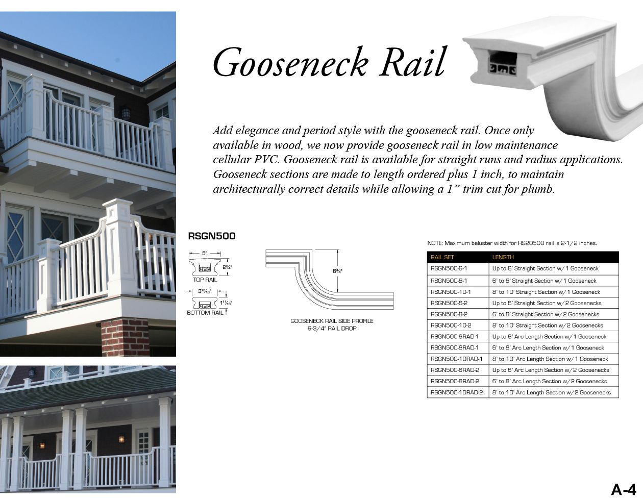 Best Add Elegance And Period Style With Gooseneck Rail Once Only Available In Wood We Now Provide 400 x 300