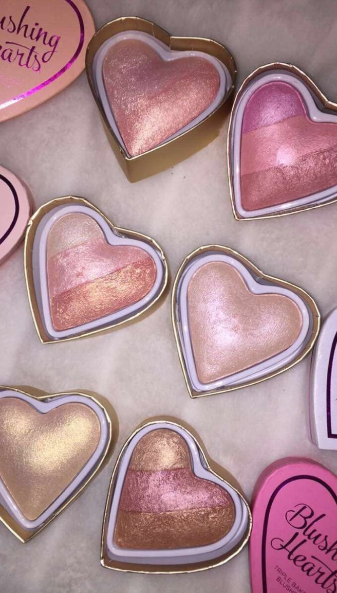 Makeup revolution blushing hearts blushes/highlighters