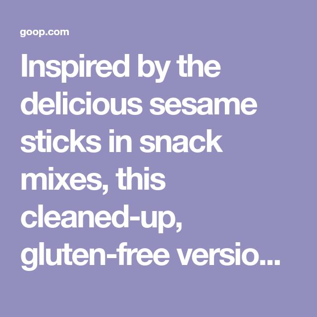 Gluten-Free Sesame Sticks | Recipe | Gluten free, Gluten ...