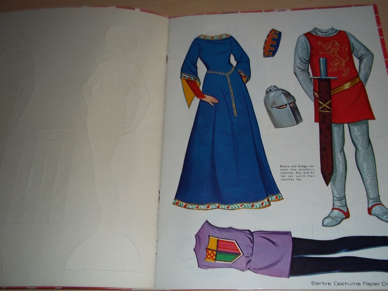 Vintage Barbie Ken Little Theater Costume Dolls Paper Doll Book by Whitman | eBay