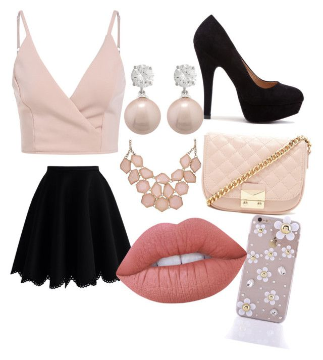 """chicky pink"" by haileycardona on Polyvore featuring Chicwish, Forever 21 and Lime Crime"