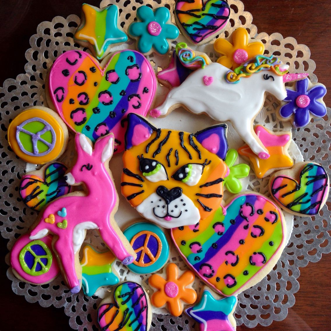 Excellent Lisa Frank Cookies Lisa Frank Birthday Party Cookies Theme Funny Birthday Cards Online Alyptdamsfinfo