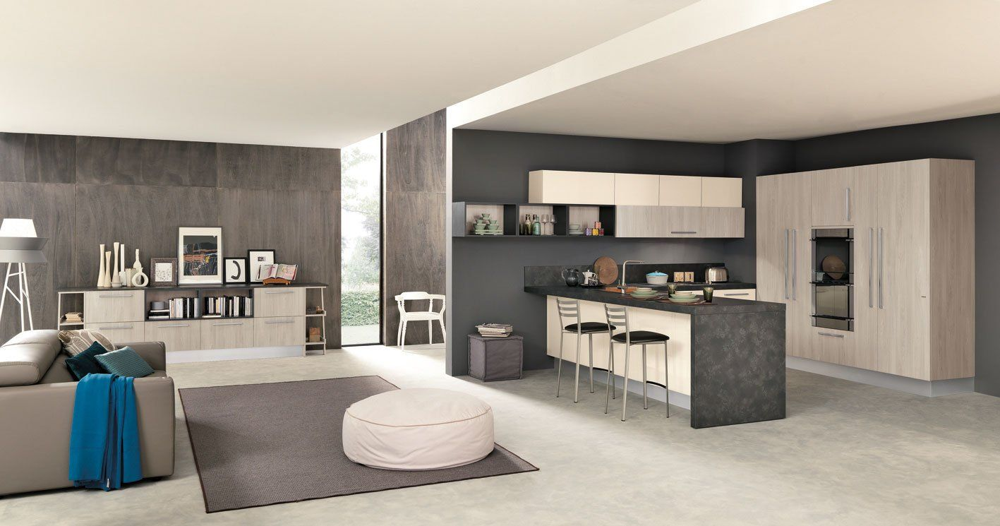 Come Dividere Sala E Cucina soggiorno e cucina moderna