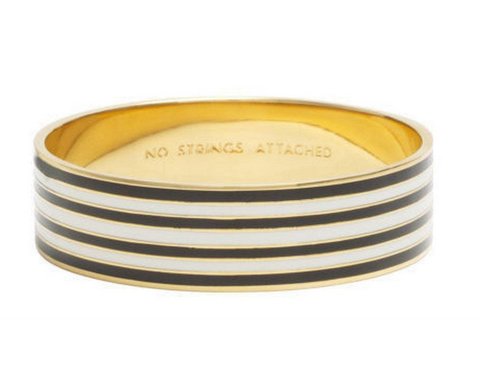 Amazon.com : kate spade new york Idiom Bangle Bracelets, Cream Black