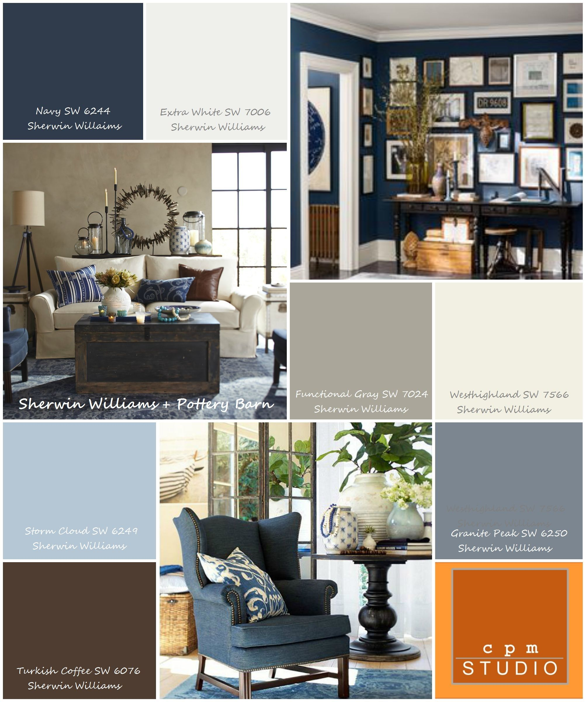 Navy Accent Wall Sherwin Williams 6244 Naval T