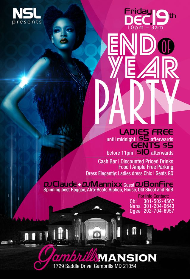 Nsl End Of Year Party Flyer Web01 End Of Year End Of Year Party Party Flyer