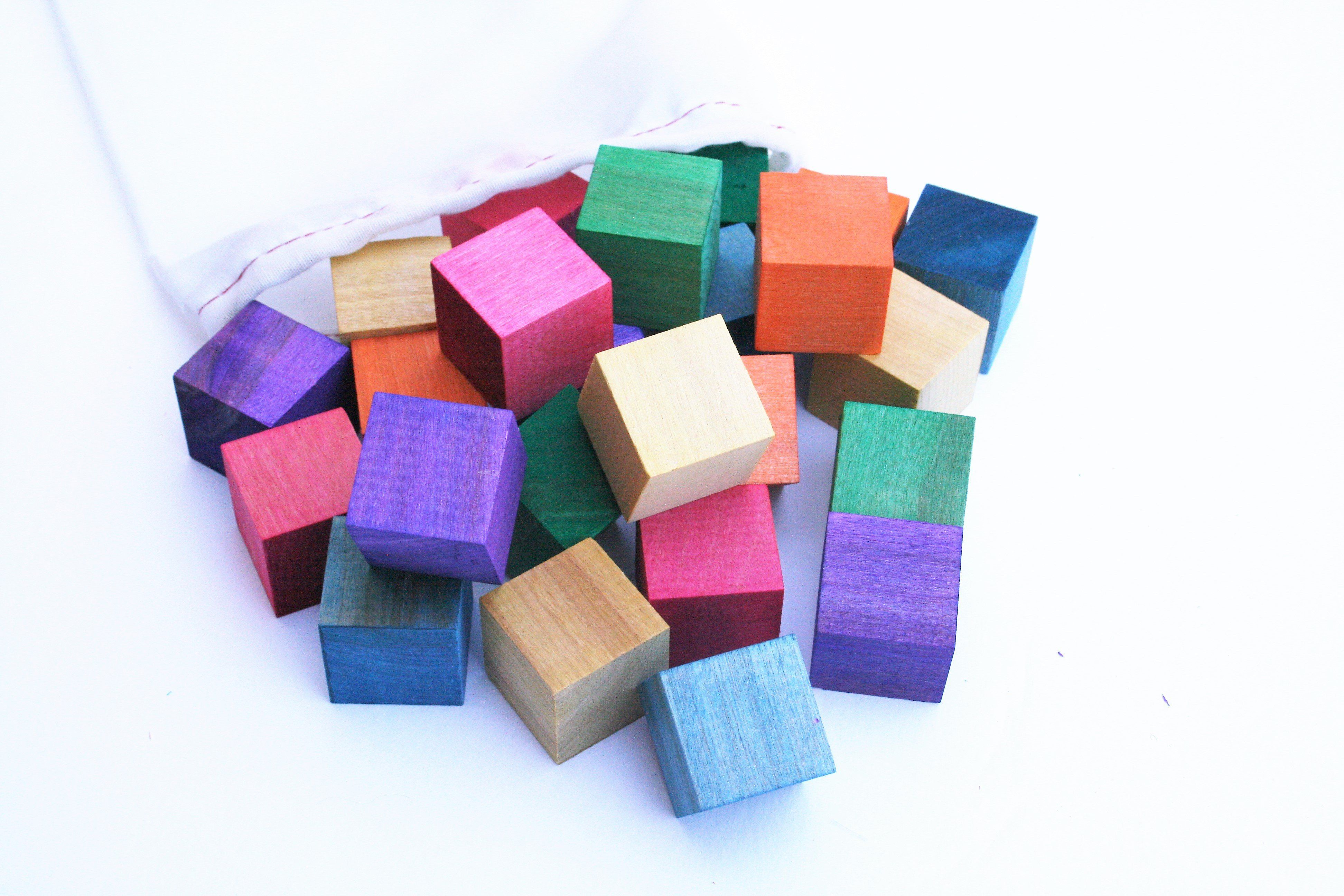 Watercolor Counting Mini Blocks