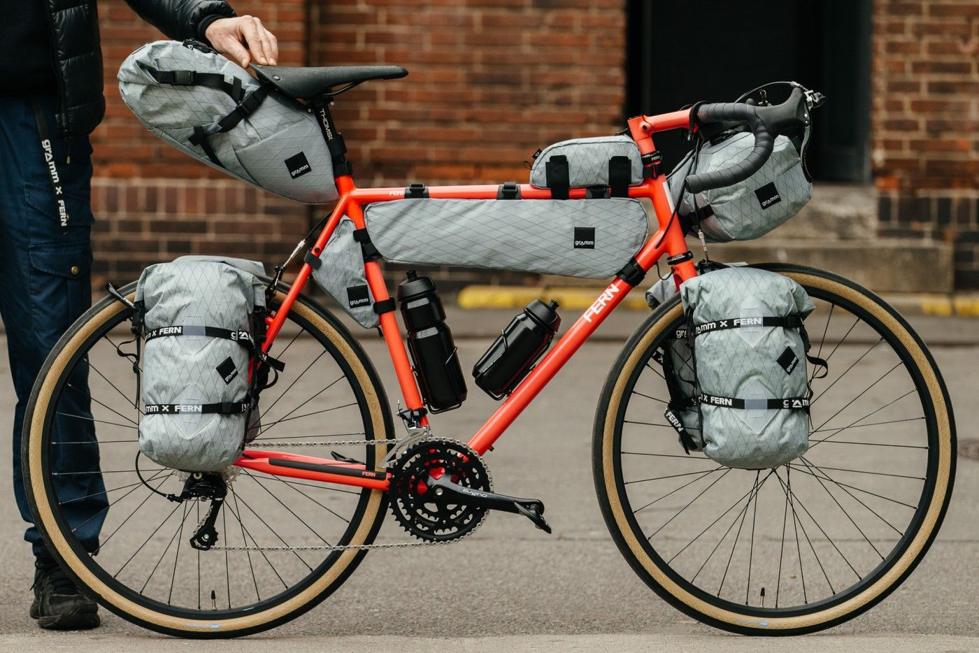 Fern Cycles Chacha Touring Bike With Gramm Bags Touring Bike Bike Camping Touring Bicycles