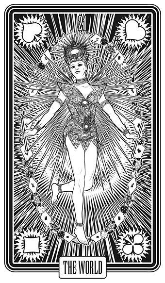 21. THE WORLD - Las Vegas Tarot -- If you love Tarot, visit me at www.WhiteRabbitTarot.com