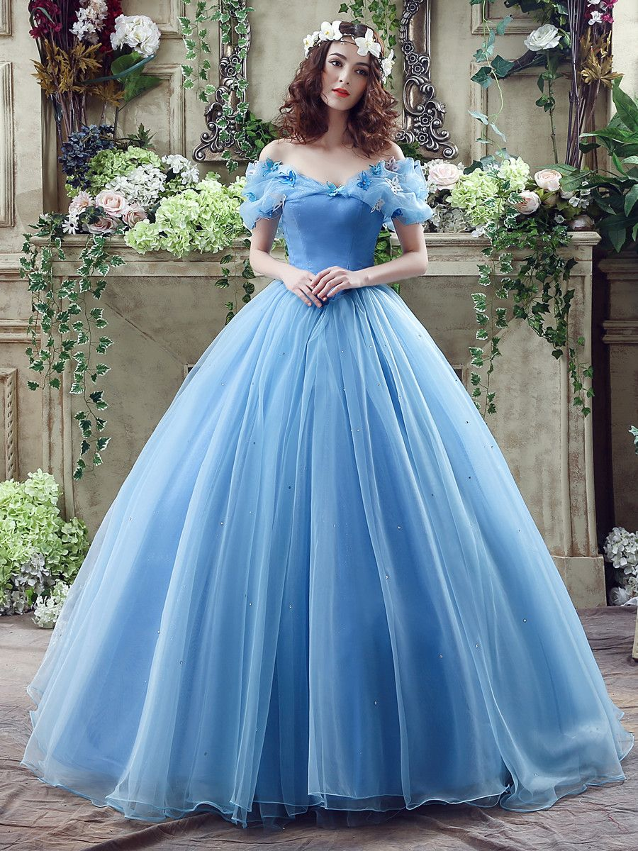 Off The Shoulder Ball Gown Cinderella Wedding Dress | Princess ...