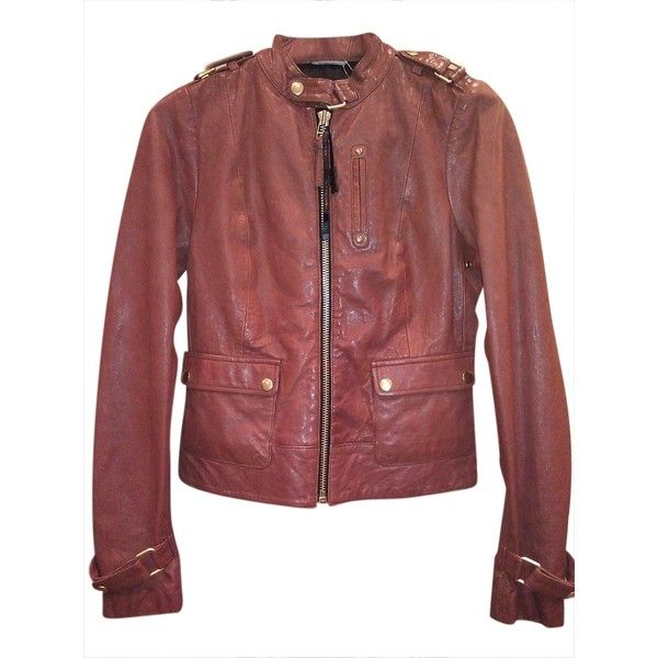 Pre-owned Mackage New Lamb Leather Brick Leather Jacket ($270) ❤ liked on
