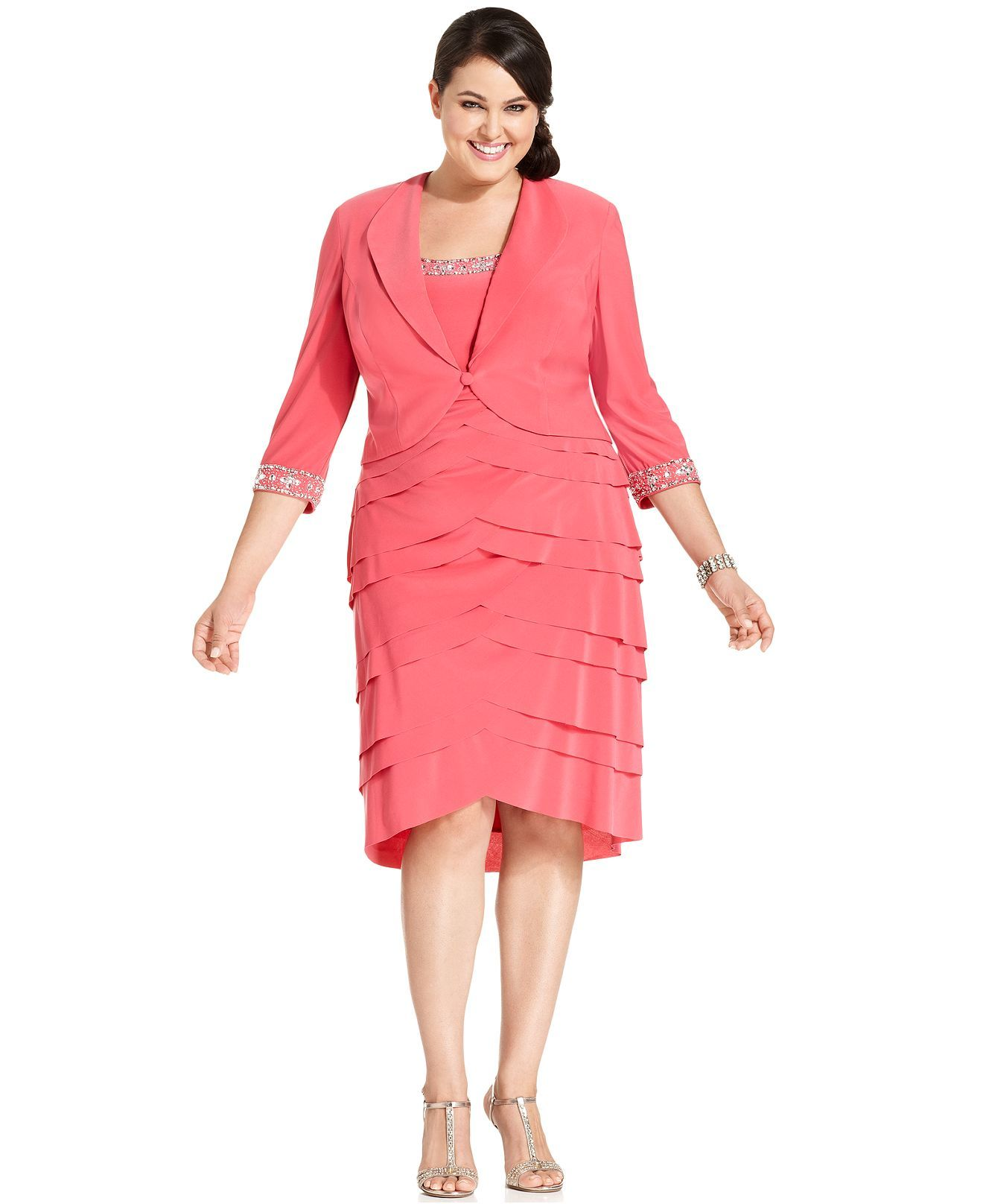 6d8865e7a1d Alex Evenings Plus Size Dress and Jacket