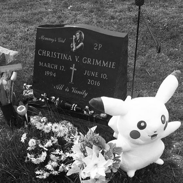 Christina Grimmie Gravesite