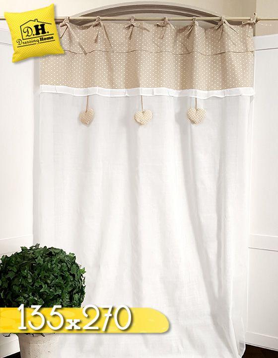 Attractive Tenda Shabby Chic 130 X 270 Cm Colore Bianco / Beige | Tende Shabby U0026  Country Chic | Pinterest | Shabby