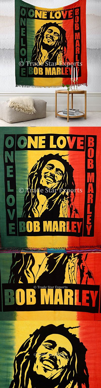 Bob Marley Wall Tapestry, Bohemian Bedding Queen, Large Hippie Dorm ...