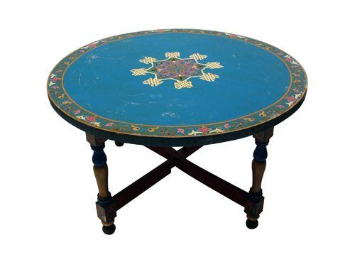 Moroccan Blue Round Coffee Table Moroccan Coffee and DIY furniture