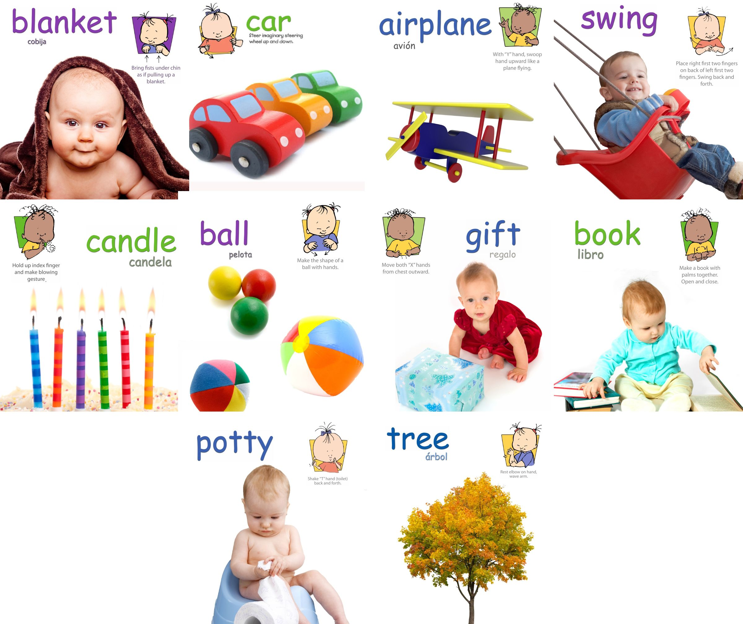 Objects Signs Poster Pack Baby Signs Printable Poster Pack With Signs For Airplane Blanket