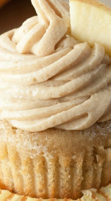 Apple Cider Cupcakes & Brown Sugar Cinnamon Buttercream | Wishes and Dishes