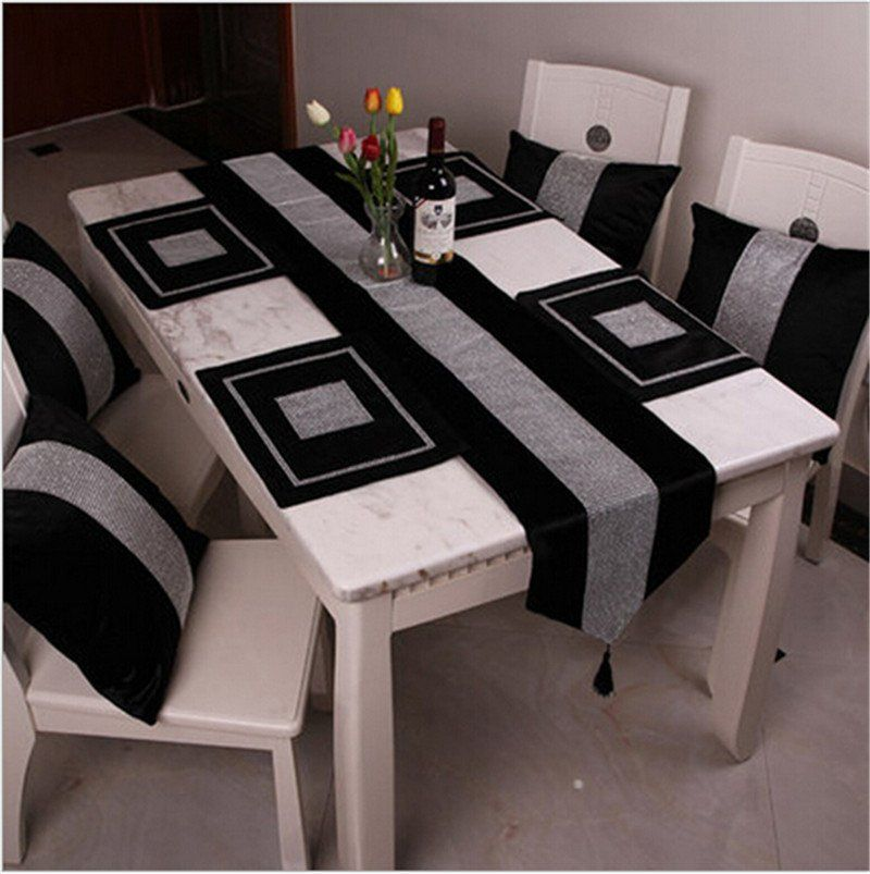Chinese Style Cotton Blend Diamante Placemat Dining Table Mat Disc