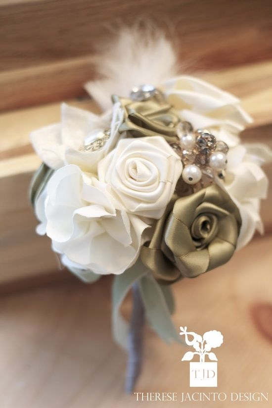 Ribbon Flower Bouquets – A Wedding Rehearsal Tradition! | Ribbons ...