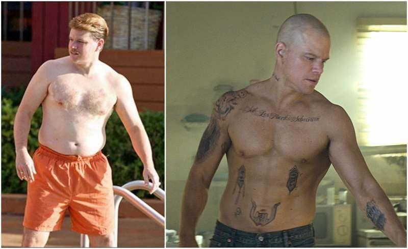 Matt Damon S Body Transformations Actors Pinterest