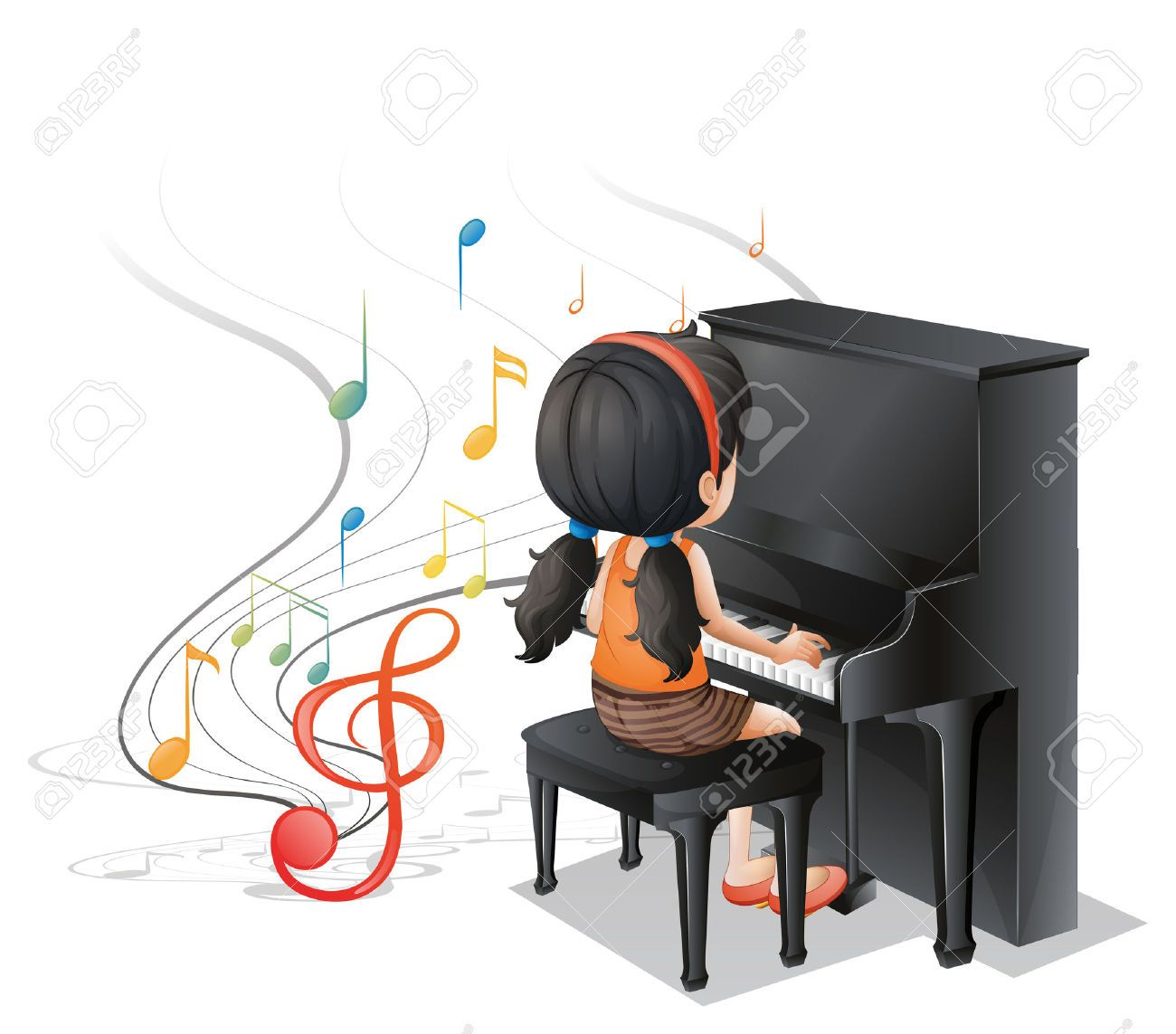 clipart girl playing piano - photo #13