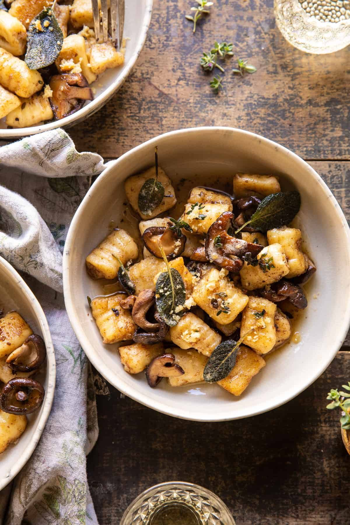 Ricotta Gnocchi with Herby Mushrooms and Sage Browned Butter. – Half Baked Harvest
