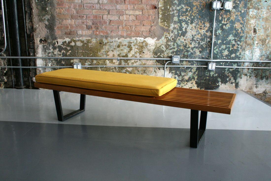 Astounding Birch Slat Bench George Nelson Herman Miller 1946 Theyellowbook Wood Chair Design Ideas Theyellowbookinfo