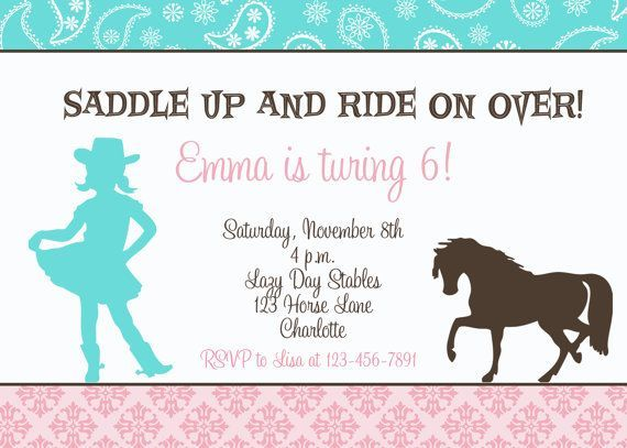 horse party invitations boy Google Search The KidParty