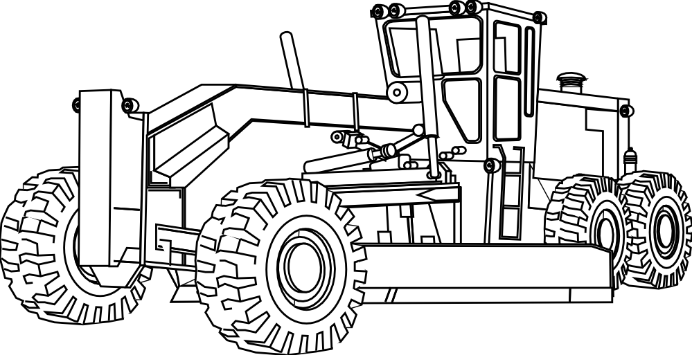farm equipment coloring pages   pics of heavy equipment   Artfavor Heavy Equipment ...