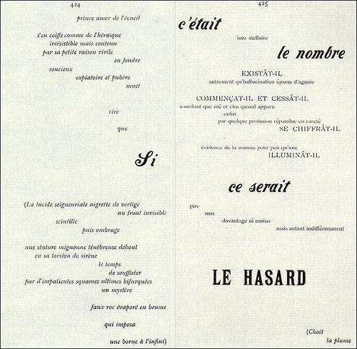 Un Coup De Dés Jamais Nabolira Le Hasard Jpg 500 489 Pixels Typografie Layout Konkrete Poesie Typografie