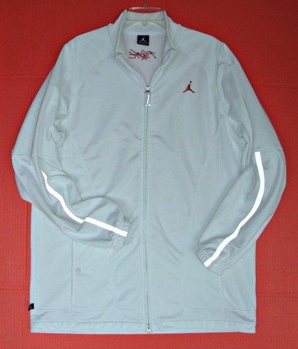 a20f06cd3bea Mens Nike Air Jordan Flight Jacket XXL 2XL Light Reflective Jumpman White  Track