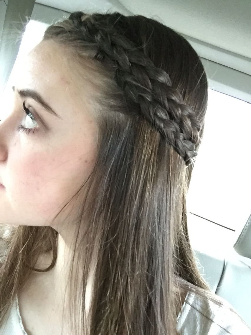 Two Inside Out Braids 1 Do Two Inside Out Braids On Top Of Each Other 2 End With Bobby Pins Top Braid Inside Out Braid Hair Styles