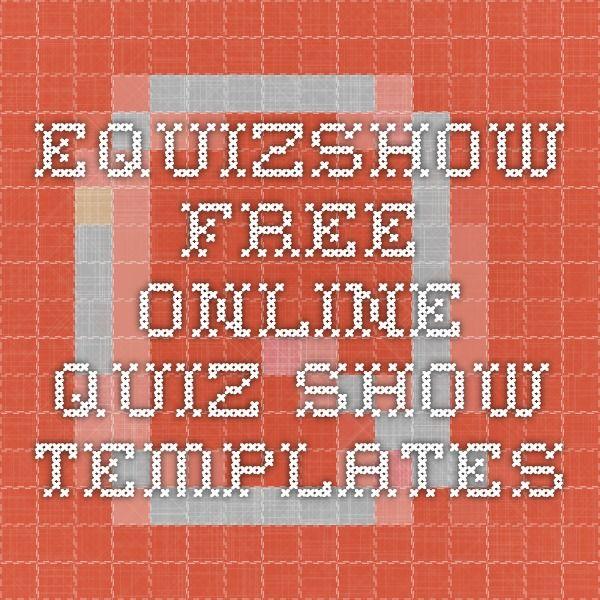 eQuizShow - Free Online Quiz Show Templates Recursos Pinterest