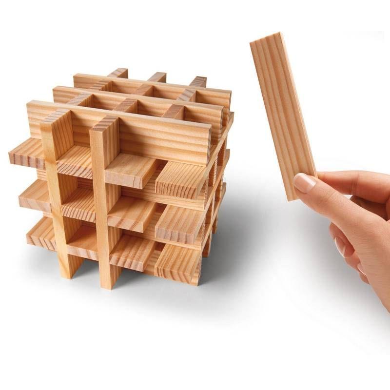Kist 40 plankjes blank van Kapla   Speelgoed Kiki