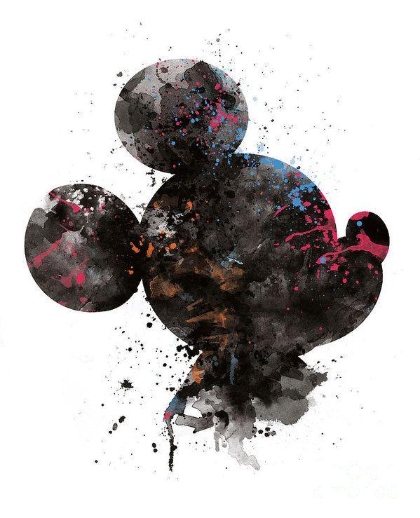 Mickey Mouse Art Print by Monn Print