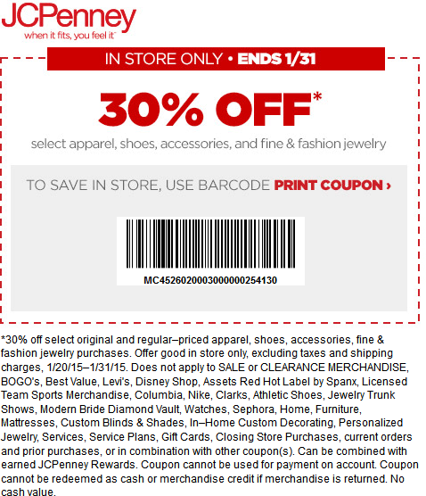 Jcpenney Deal Jcpenney Coupons Printable Coupons Print Coupons