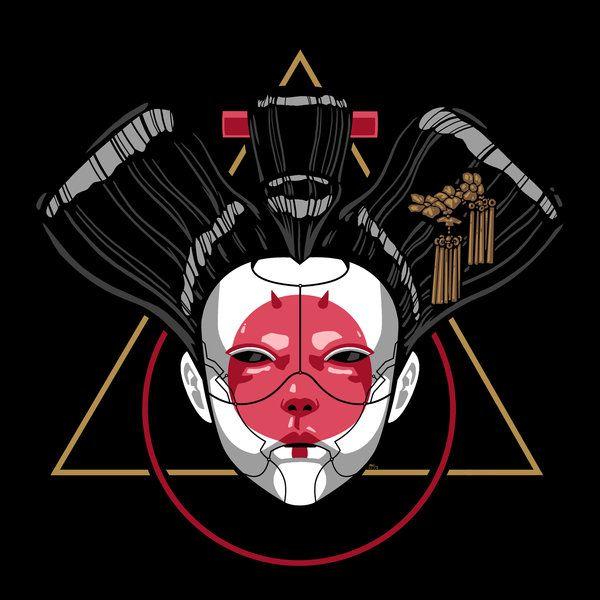 Ghost In The Geisha By Andrewkwan Japanese Art Modern Cyberpunk Art Samurai Art