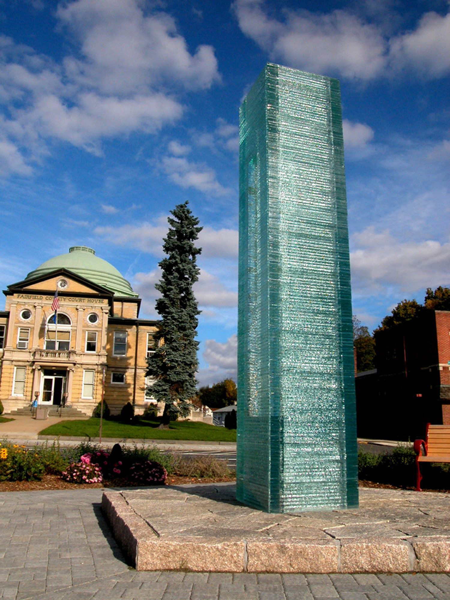 Henry Richardson Glass Sculpture: 9-11 Memorial