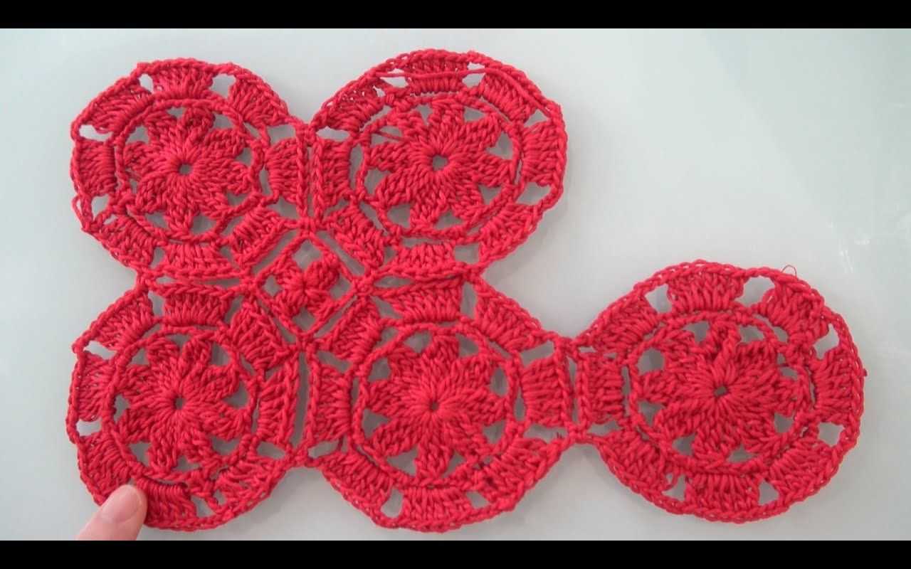 How To Crochet Octagon Flower Motif And Join As You Go Tutorial