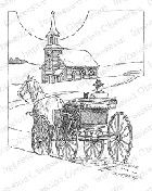 Impression Obsession - Cling Mounted Rubber Stamp - By Gary Robertson - Horse & Buggy