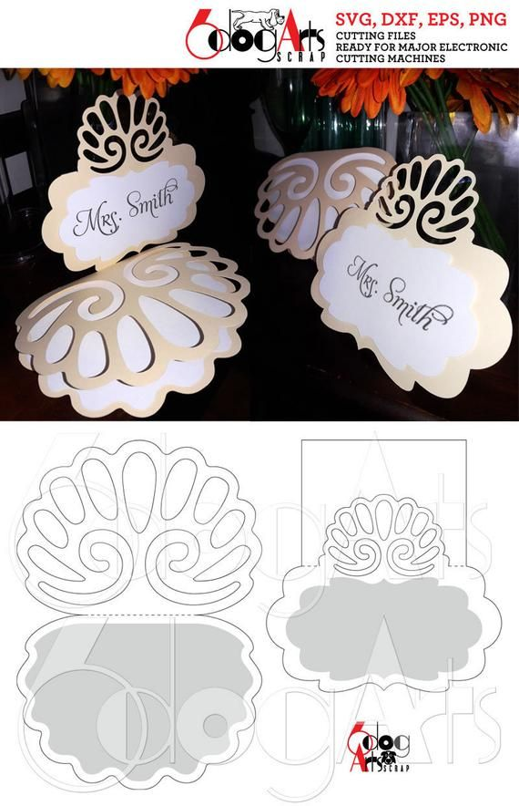 Sea Shell Mermaid Card Place Card Digital Templates Vector Etsy In 2021 Cards Pop Up Cards Place Card Template