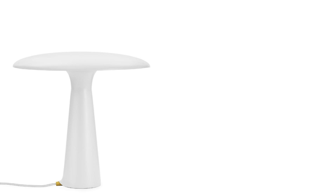 Shelter Table Lamp limestone – clean design, playful ...