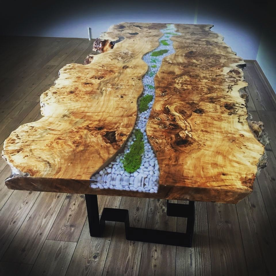 epoxy table epoxy furniture pinterest r sine resine epoxy et poxy. Black Bedroom Furniture Sets. Home Design Ideas