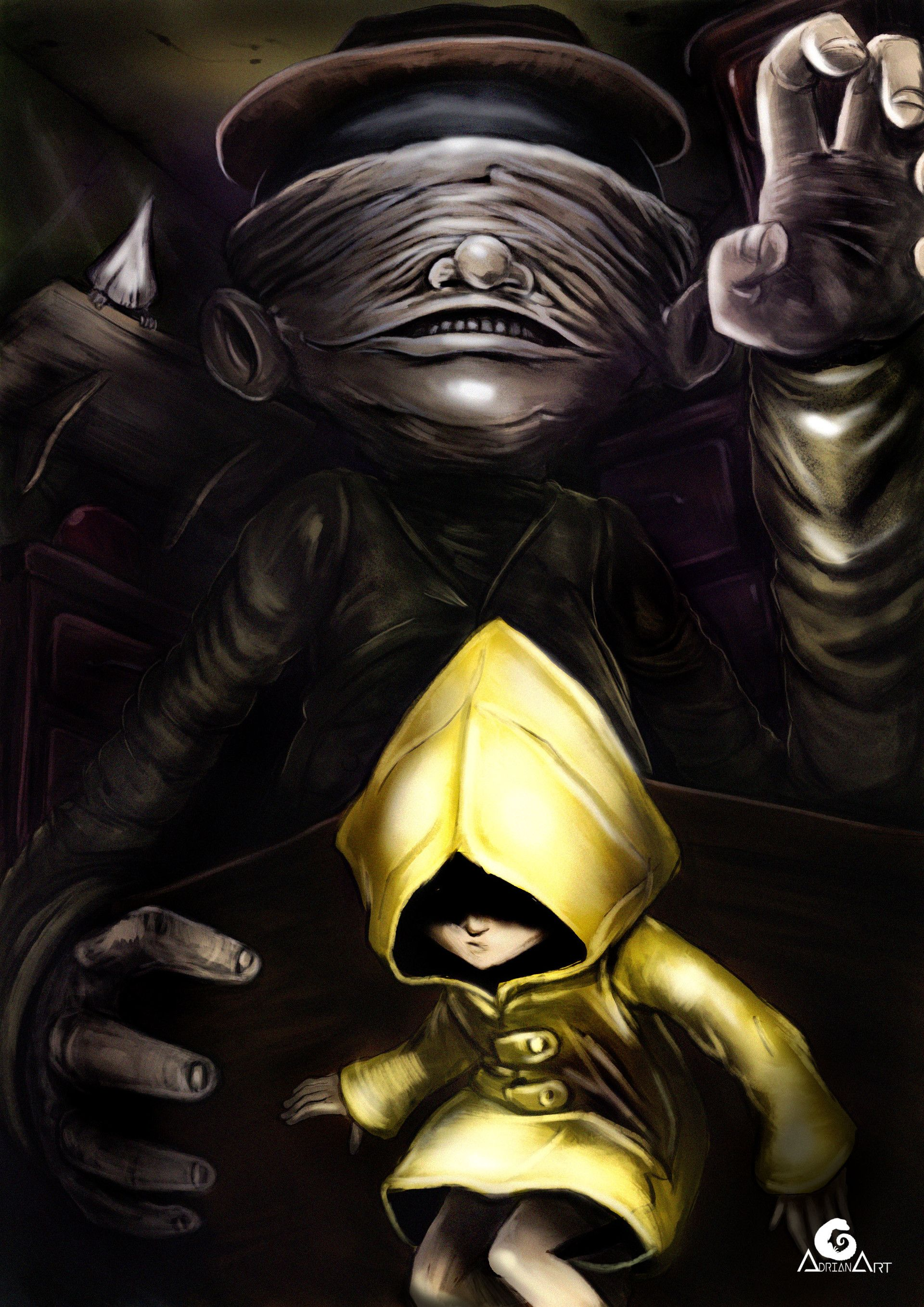 ArtStation - Little Nightmares, Six and the Janitor, Adrian